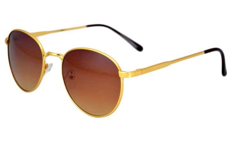 Ochelari de soare Aviator - Maro/Auriu