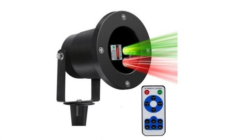 Proiector laser cu telecomanda si timer oprire automata, jocuri lumini verzi si rosii, interior, exterior