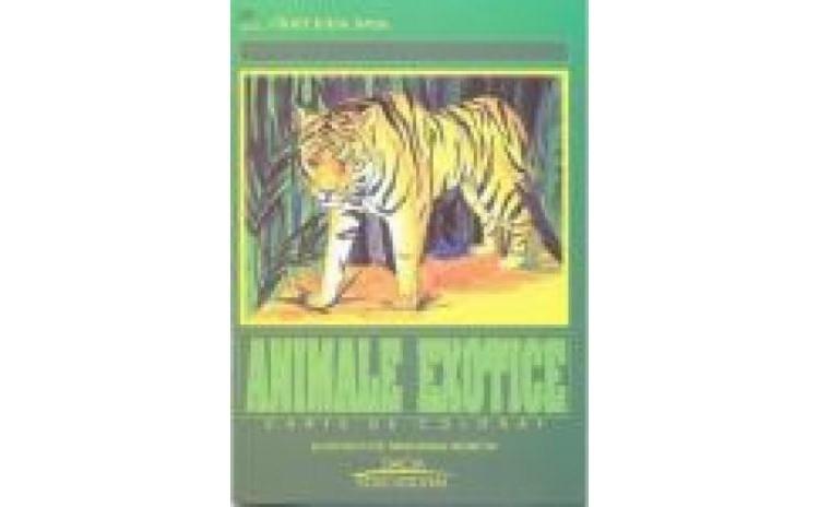Animale Exotice - carte de colorat,