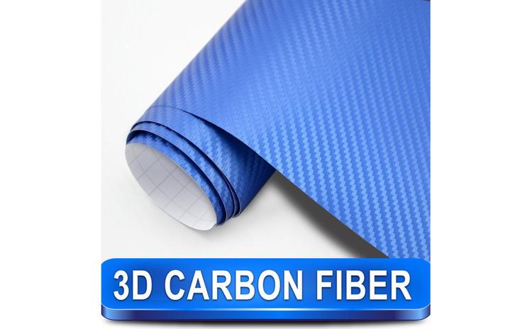 Rola folie carbon 3D albastra cu