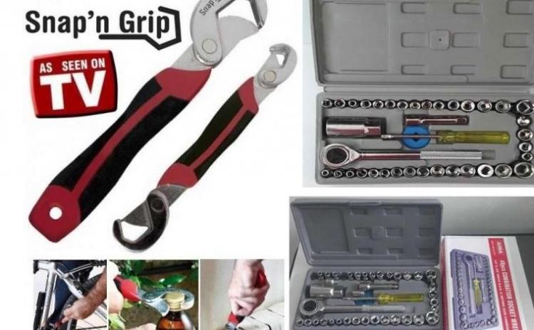 Image of Set doua chei universale, Snap Grip + trusa completa cu 40 chei tubulare