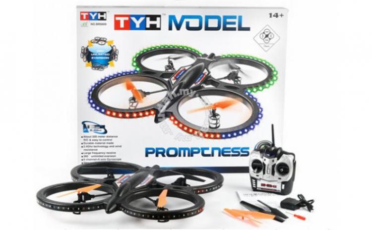 Drona Tyh 6809 Model 6 Channel 2.4ghz Rtf - Drona Mare - Uriasa, La Doar 599 Ron In Loc De 1198 Ron