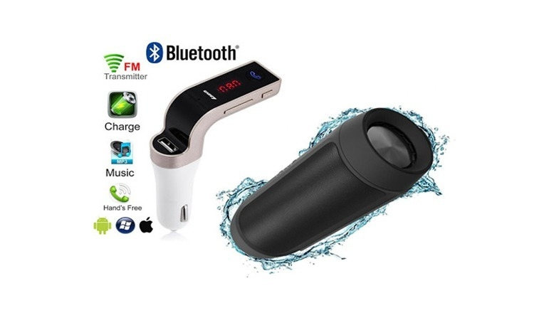 Boxa Bluetooth, USB, 2 difuzoare, 15W + Modulator auto MP3 Bluetooth