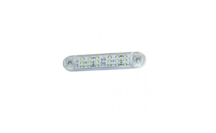 Lampa gabarit cu 18 LED 12V-24V Alba TIP