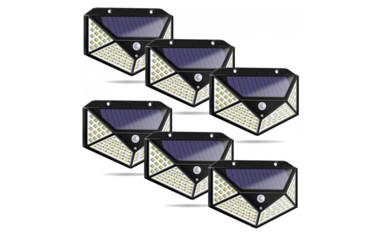 Set 6 lampi solare 100 LED, senzor de