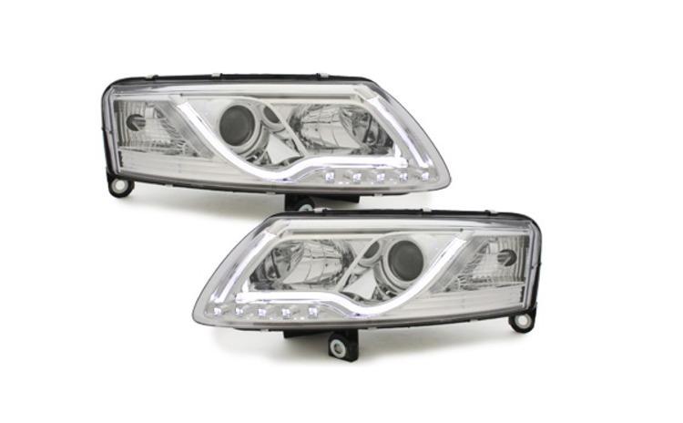Set 2 faruri LED DRL compatibil cu Audi