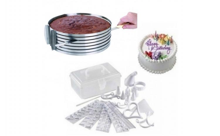 Feliator reglabil pt tort + kit decorare