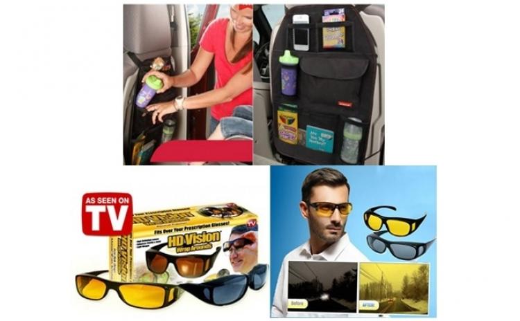 Ochelari de condus + Organizator auto