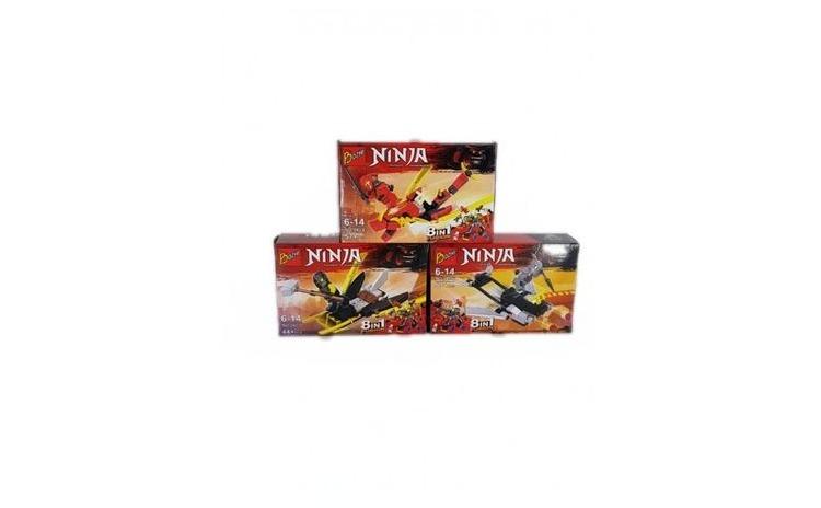 Set Puzzle de 3 modele, 8 in 1, Ninja