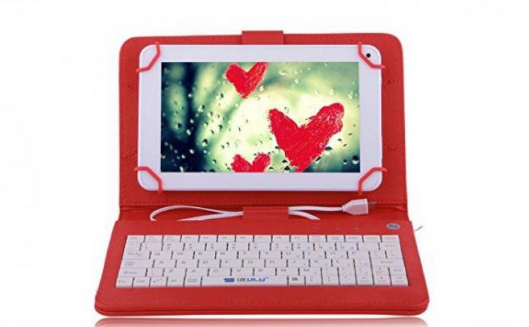 Imagine indisponibila pentru Husa tableta 9.7 inch, cu tastatura micro usb, rosu, tip mapa, prindere 4 cleme, protectie antisoc, piele sintetica, functie stand C18, la 42 RON in loc de 89 RON