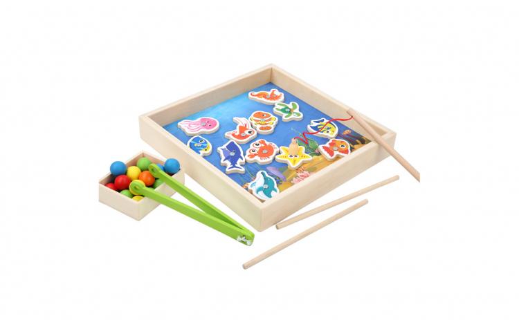 Joc Montessori Pescuit magnetic+Mozaic
