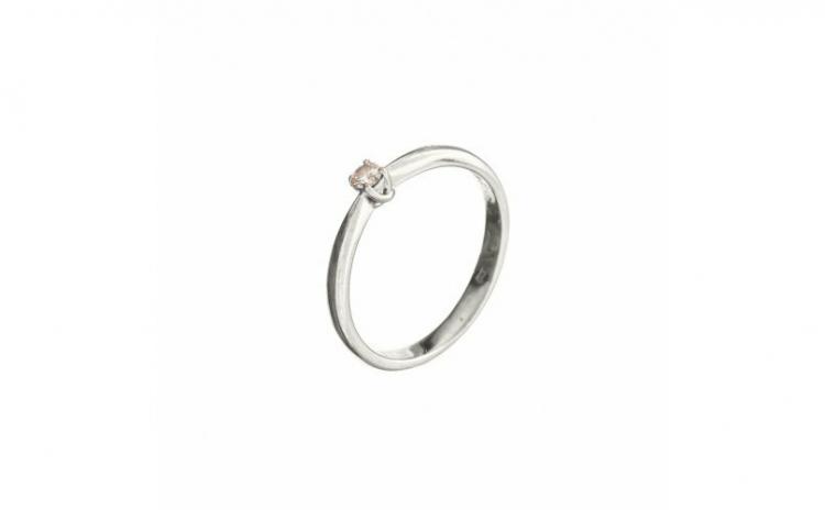 Inel de logodna din aur alb 18K