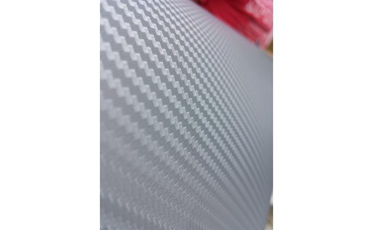 Folie carbon 3D argintie latime 1.27m