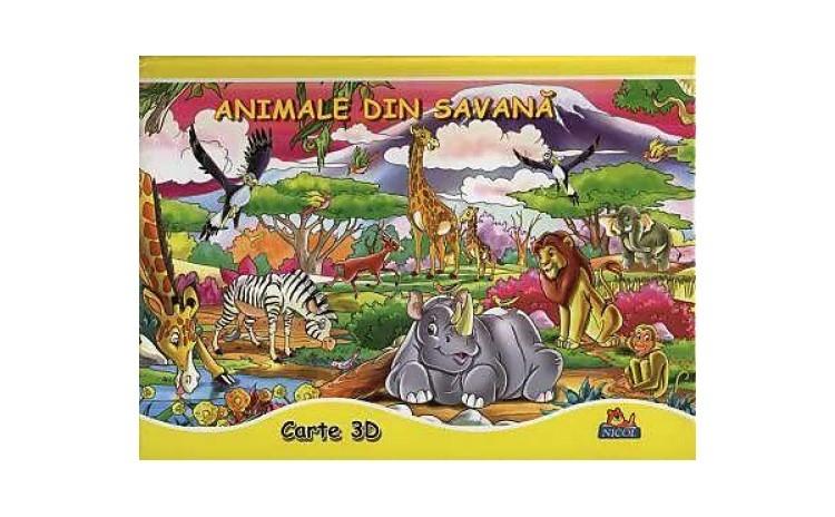 Animale din savana - Carte 3D, autor
