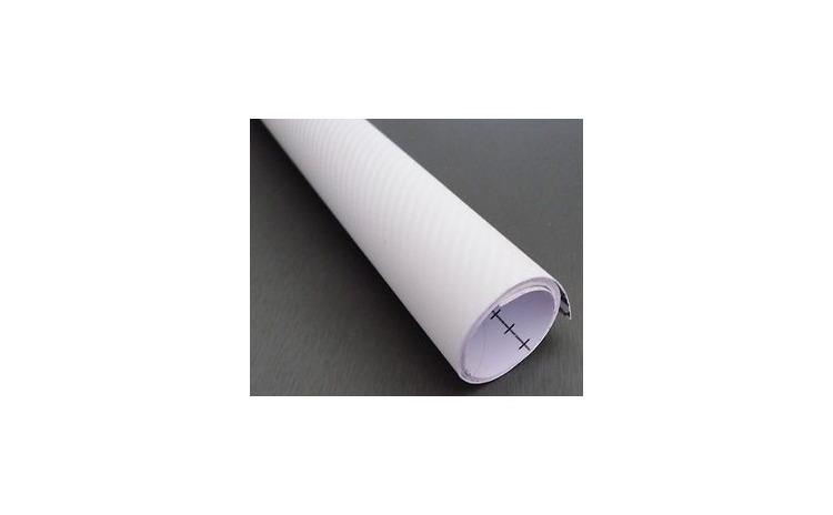 Folie carbon 3D alba latime 1.27m