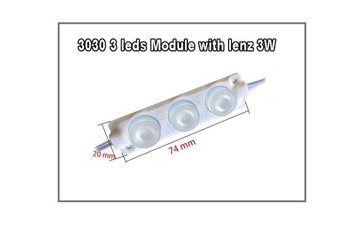 Modul LED 3 SMD 3W 24V ALB  COD: