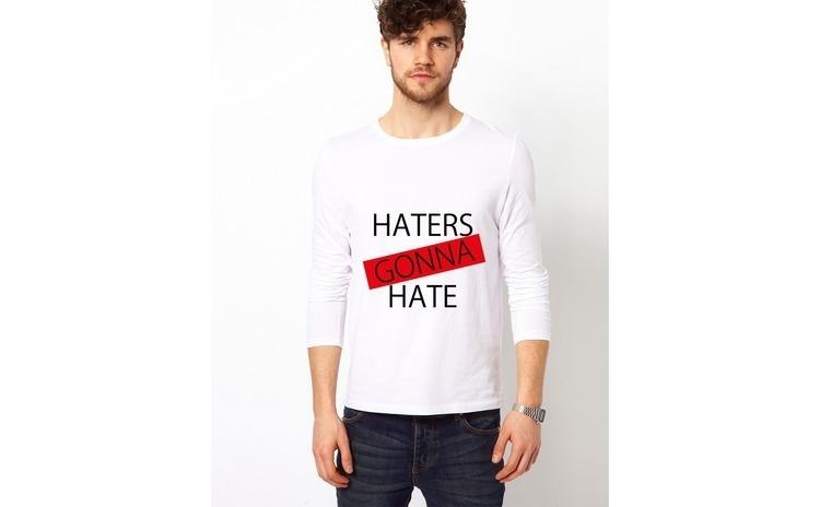 Bluza alba, barbati, Haters