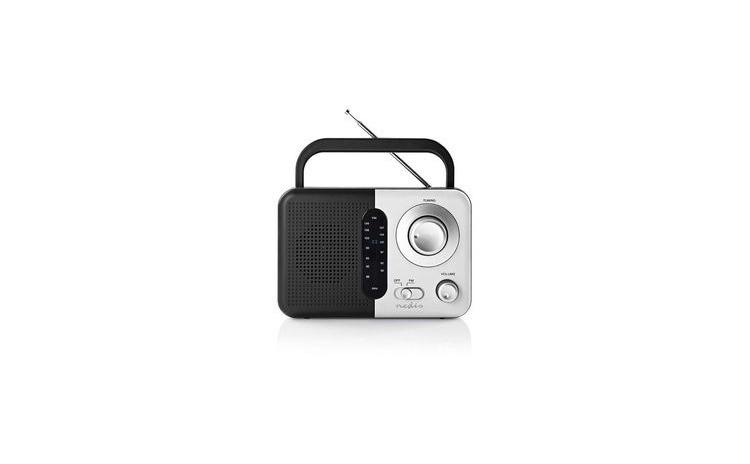 Radio portabil FM cu maner 2.4W negru