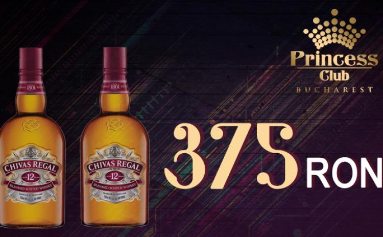 2 Sticle 0.7L CHIVAS REGAL in Club Princess din Regie la doar 375 RON in loc de 600 RON