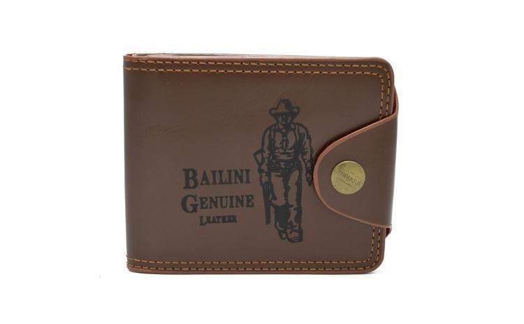 Imagine indisponibila pentru Portofel Bailini pentru barbati, Model Cowboy, calitate Premium, culoare Maro