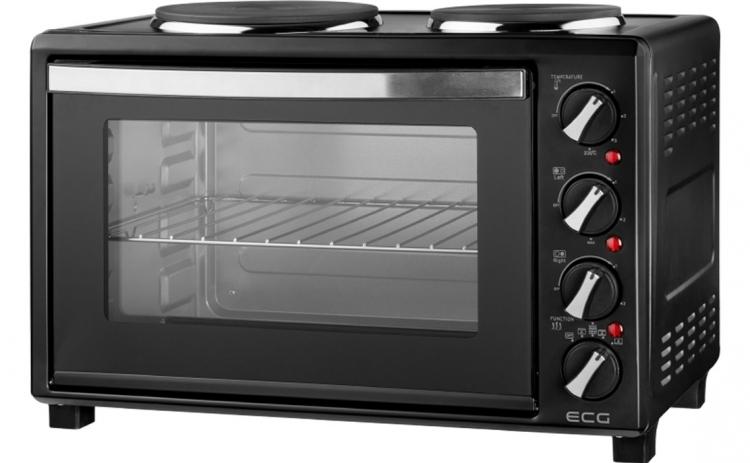 Cuptor electric ECG ET 3032 Black,3100 W, 30L, rotisor, 2 plite din fonta