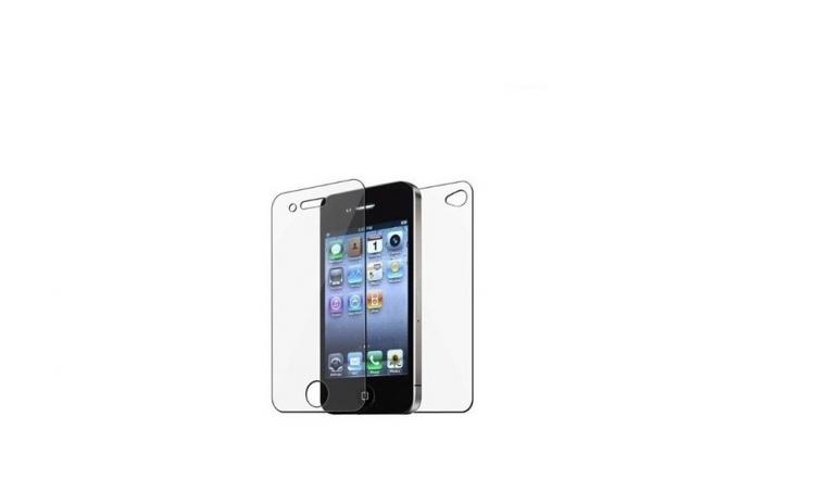 Folie sticla - fata/spate Iphone 4/4S