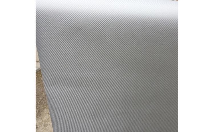 Rola folie carbon 3D argintie latime