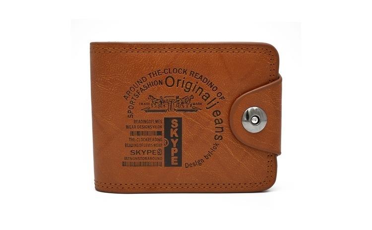 Imagine indisponibila pentru Portofel Original Jeans maro, pentru barbati, calitate Premium