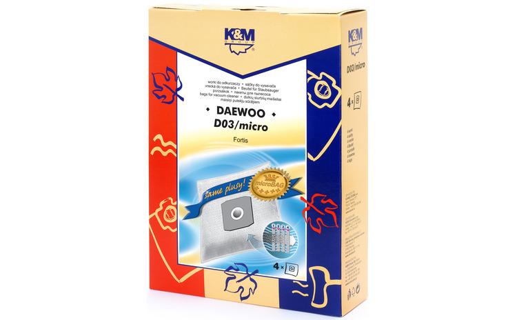 Sac aspirator Daewoo RC300, sintetic, 4X