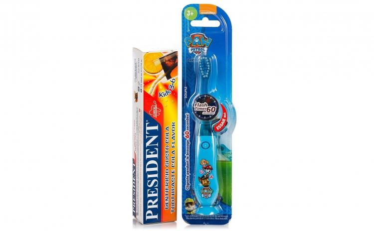 Periuta de dinti Paw Patrol + pasta Cola