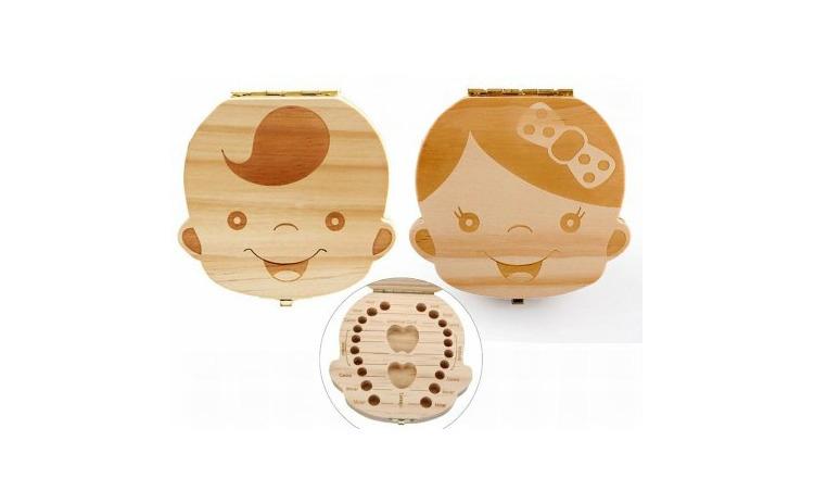 Cutie de lemn pentru dintii de lapte