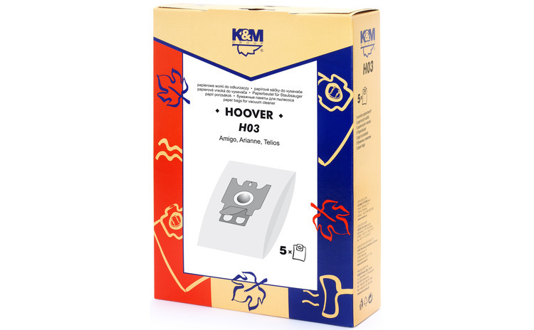 Sac aspirator Hoover H30, hartie, 5X