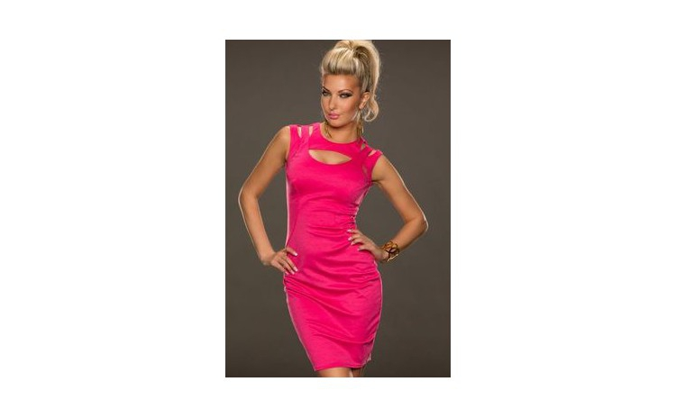 Rochie Pink Fantastic Neck