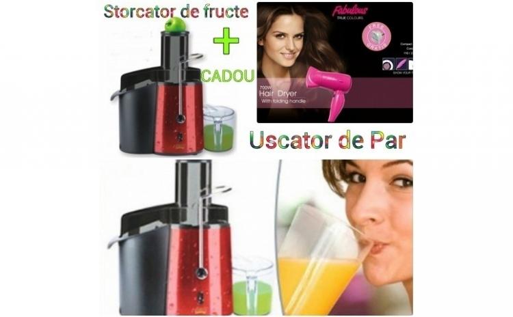 Storcator De Fructe Victronic Vc9118 700w  2 Viteze+ Cadou Uscator De Par Cu Concentrator De Aer  La Doar 235 Ron In Loc De 499 Ron