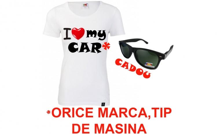 Tricou dama CAR+ ochelari de soare CADOU