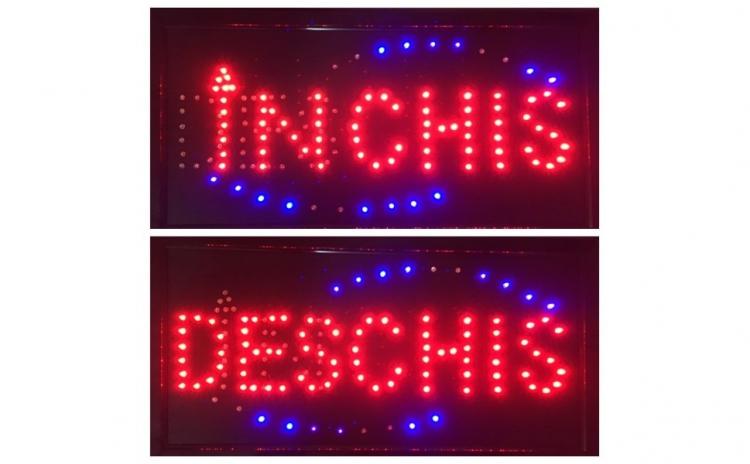 Reclama Panou LED Inchis Deschis 50x25cm