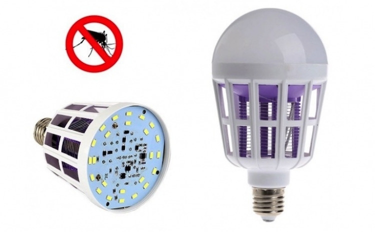 Bec LED 2 in 1 cu lampa UV insecte