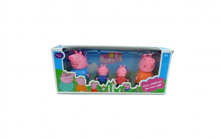 Set 4 figurine Familia Peppa Pig