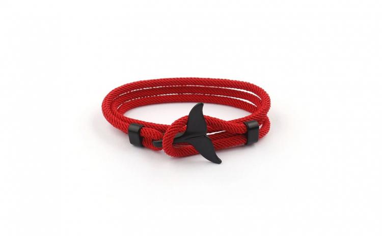 Bratara textila Seaduction Black Whale