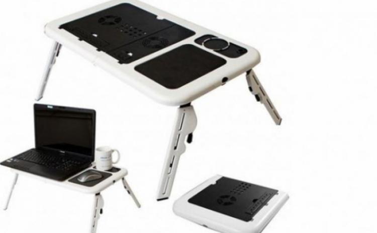Masuta- Masa laptop cu 2 coolere + suport pahar + mousepad, la 69 RON in loc de 150 RON