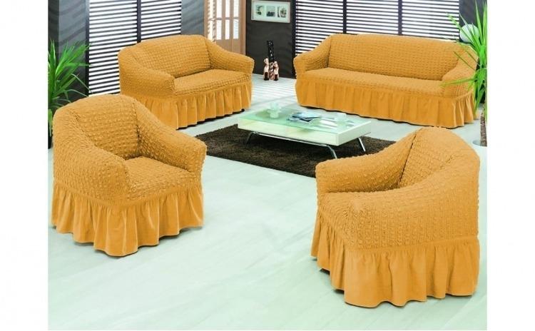 Set de huse pentru o canapea de 3 locuri + 2 huse pentru fotoliu calitate Premium