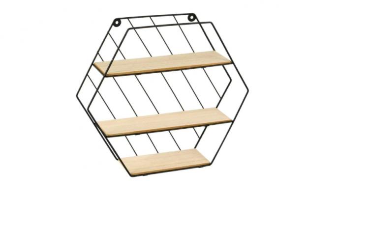 Raft decorativ cu 3 polite pentru perete