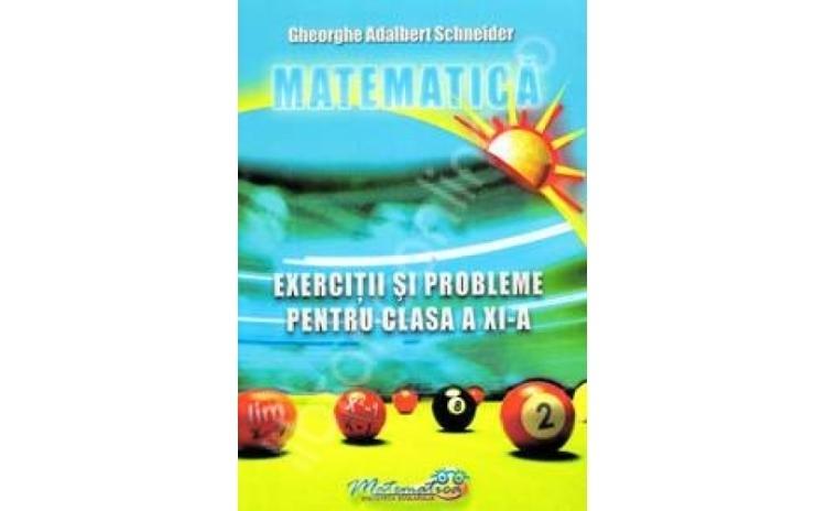 Matematica-exercitii si probleme pentru clasa a XI-a, autor Gheorghe Adalbert Schneider