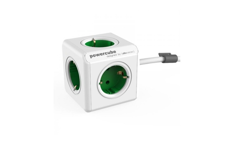 Prelungitor PowerCube Allocacoc Extended Green
