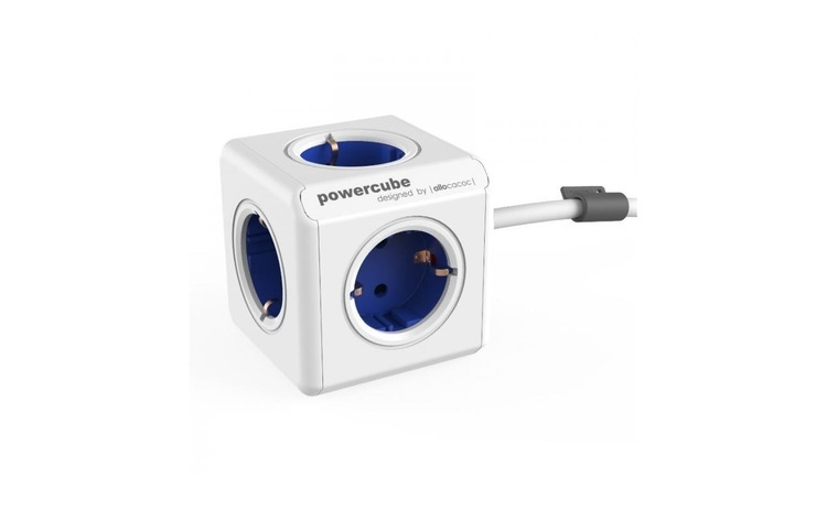 Prelungitor PowerCube Allocacoc Extended Blue