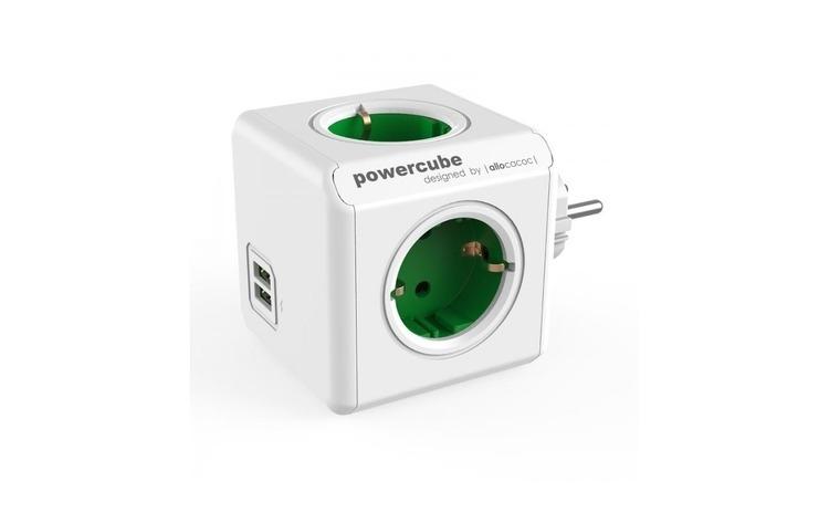 Priza PowerCube Allocacoc Original USB Green