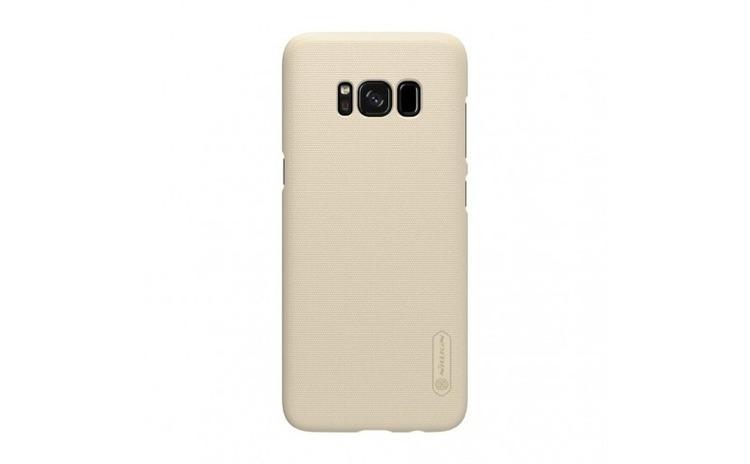 Husa Samsung Galaxy S8 Nillkin Frosted Shield Auriu + Folie de protectie