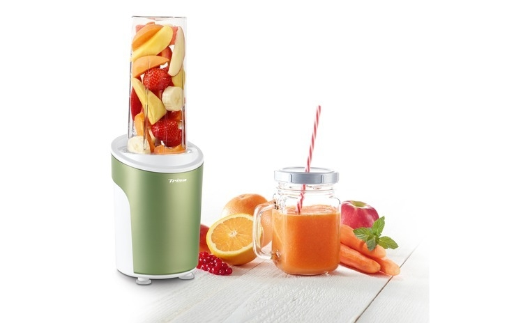 Nutriblender juicer Trisa Power Smoothie 6930.24, cutit cu 4 lame, 21.000rot/min, Verde