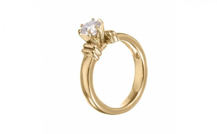Inel din aur 14K cu diamant, IAU301