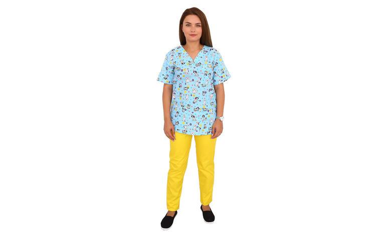 Costum medical Puppy, cu bluza cu
